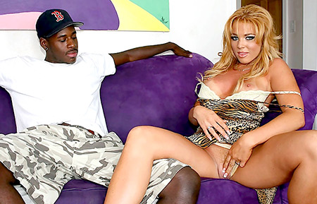 Interracial Pussy Spreading with Gia