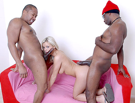 Interracial Fuck Threesome with Bree Olson