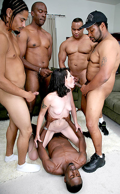 Interracial Gangbang with Gretchen Elvgren