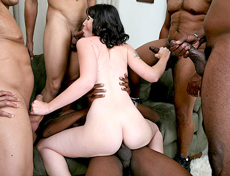 Black on White Gang Bang with Gretchen Elvgren